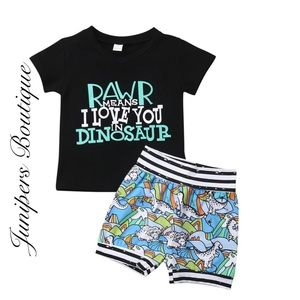Other - Boutique Boys Dinosaur 2pc Outfit